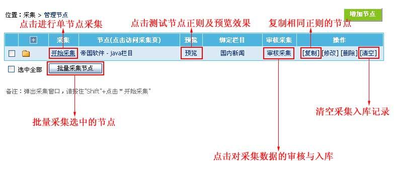 帝国CMS管理采集节点如何设置 第3张